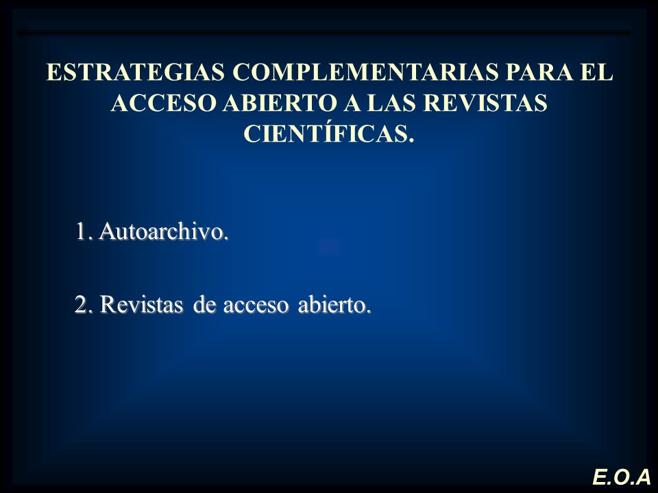 2. Revistas de acceso abierto.