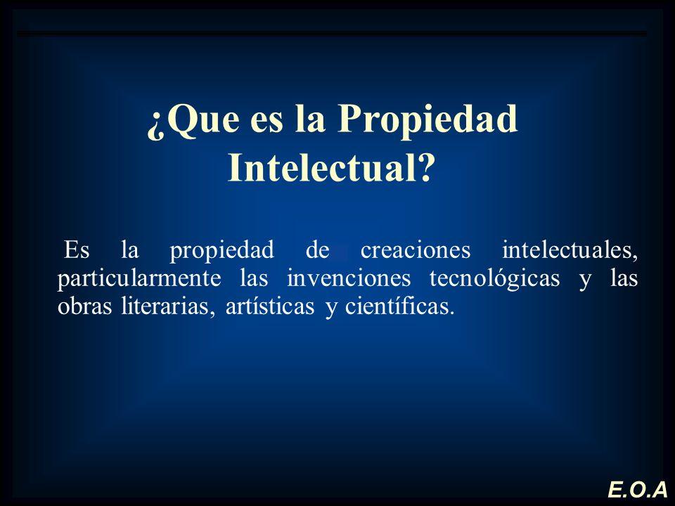 ¿Que es la Propiedad Intelectual