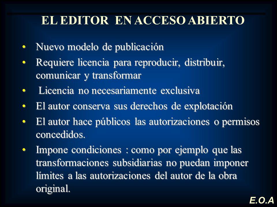 EL EDITOR EN ACCESO ABIERTO