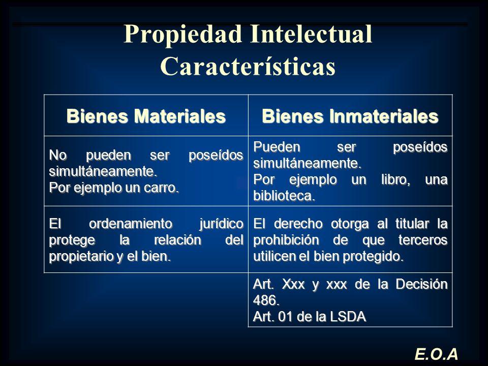 Propiedad Intelectual Características