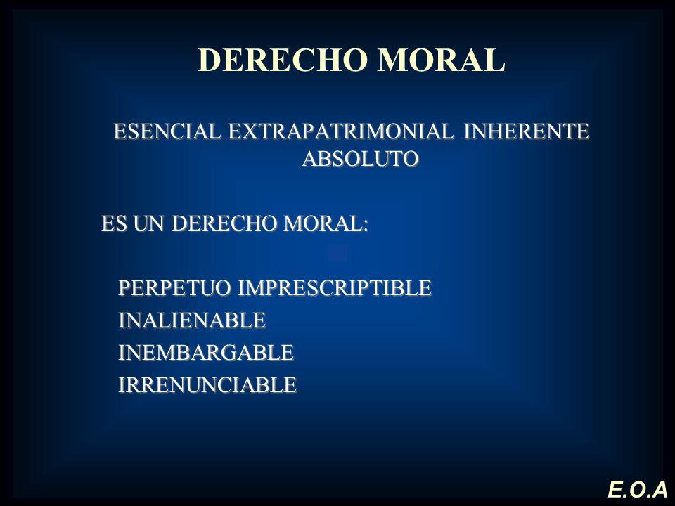 ESENCIAL EXTRAPATRIMONIAL INHERENTE ABSOLUTO