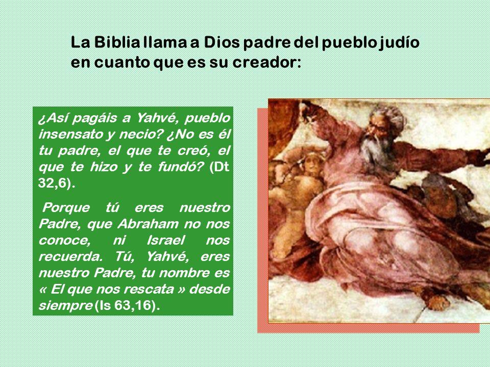 La Biblia llama a Dios padre del pueblo judío en cuanto que es su creador: