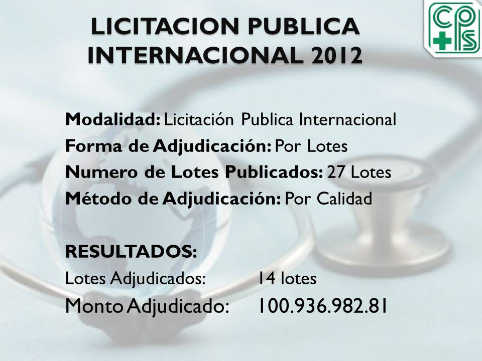 LICITACION PUBLICA INTERNACIONAL 2012