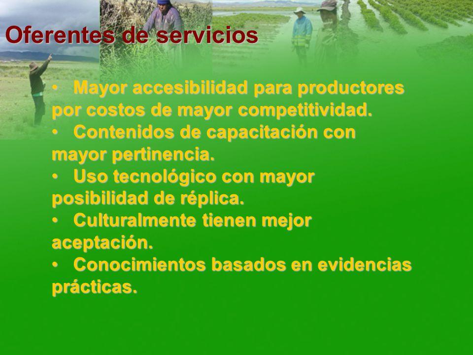 Oferentes de servicios