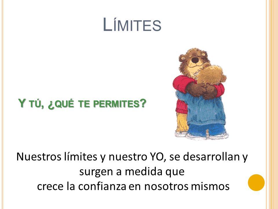 Límites Y tú, ¿qué te permites Nuestros límites y nuestro YO, se desarrollan y surgen a medida que.
