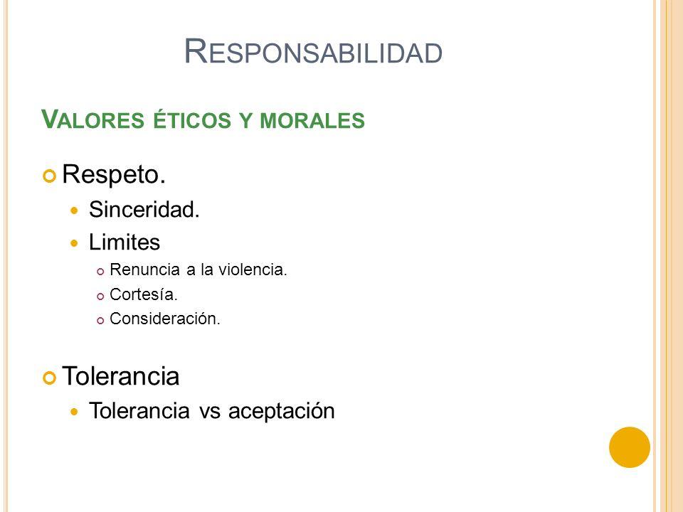 Valores éticos y morales