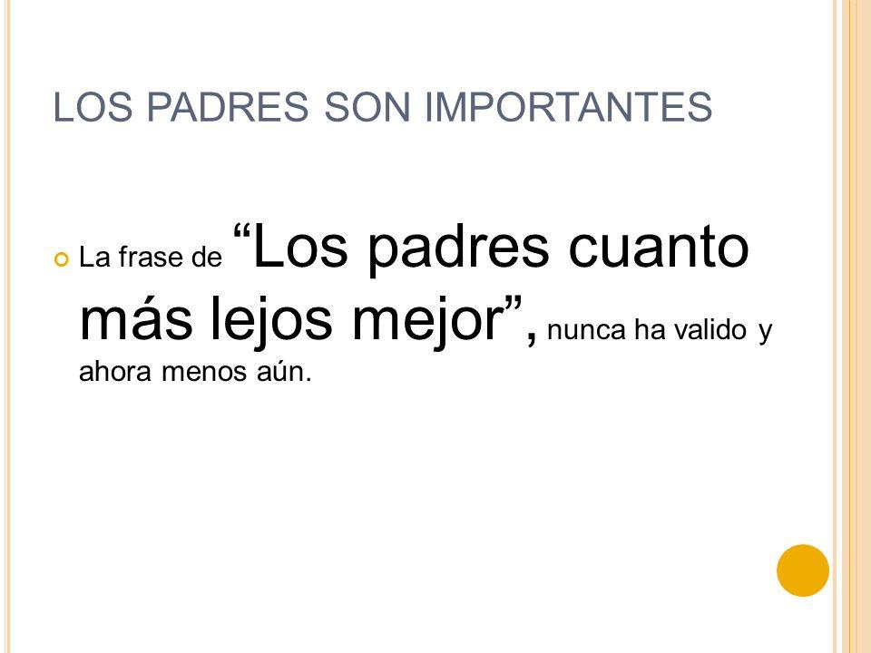 LOS PADRES SON IMPORTANTES