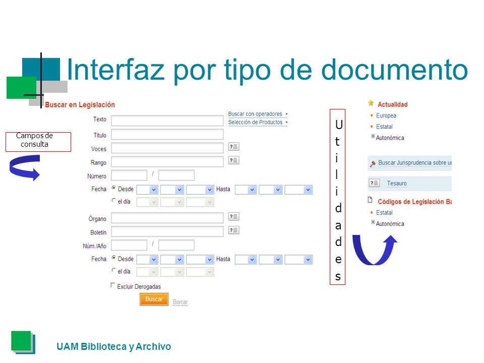 Interfaz por tipo de documento