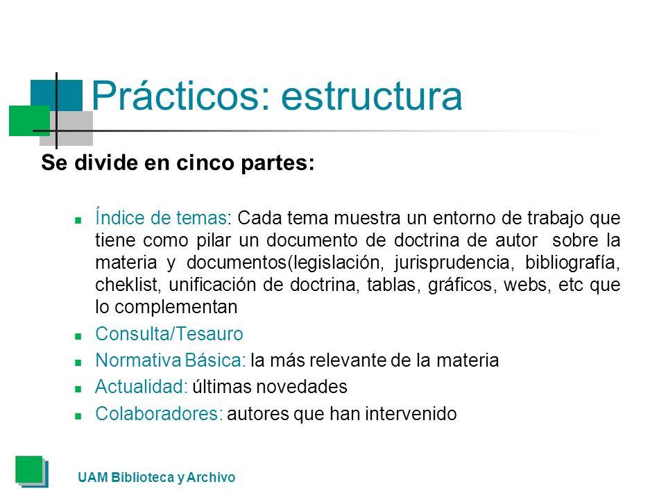 Prácticos: estructura