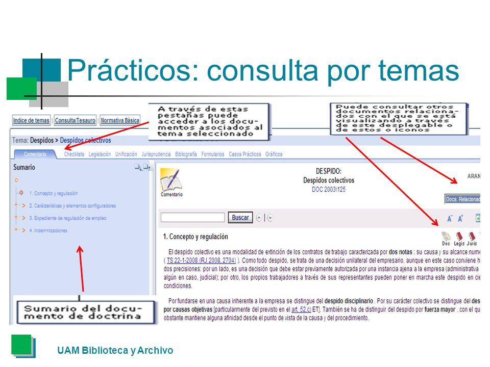 Prácticos: consulta por temas