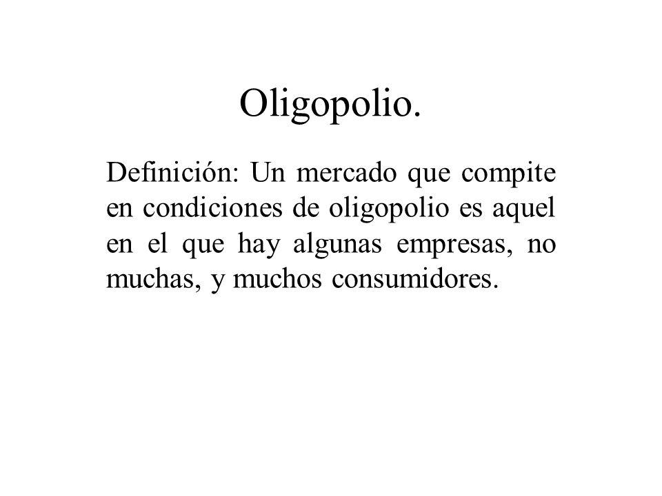 Oligopolio.