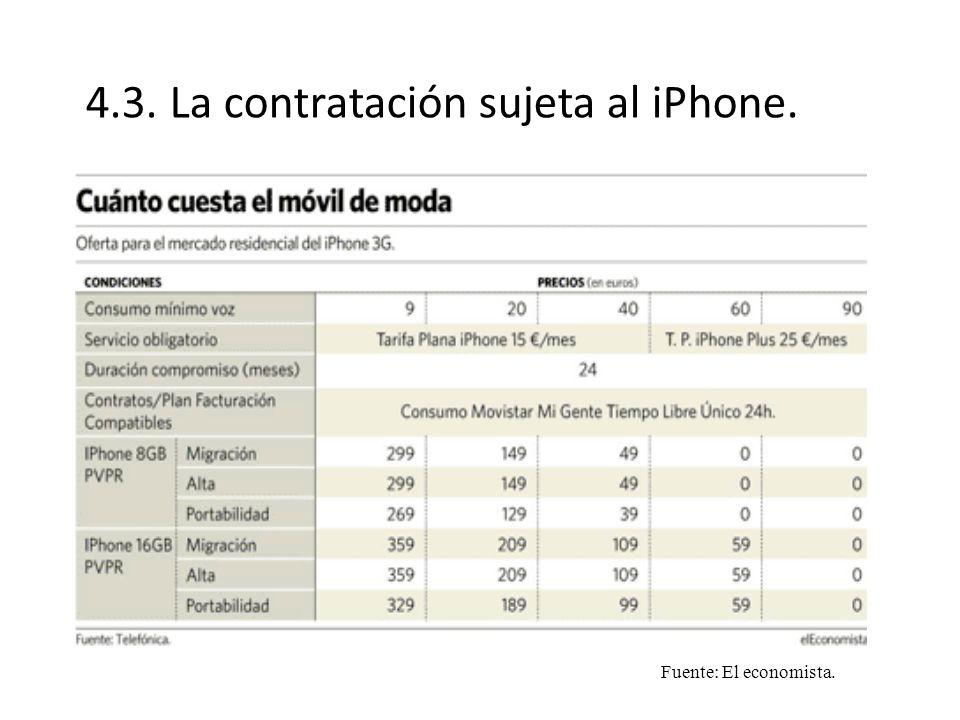 4.3. La contratación sujeta al iPhone.