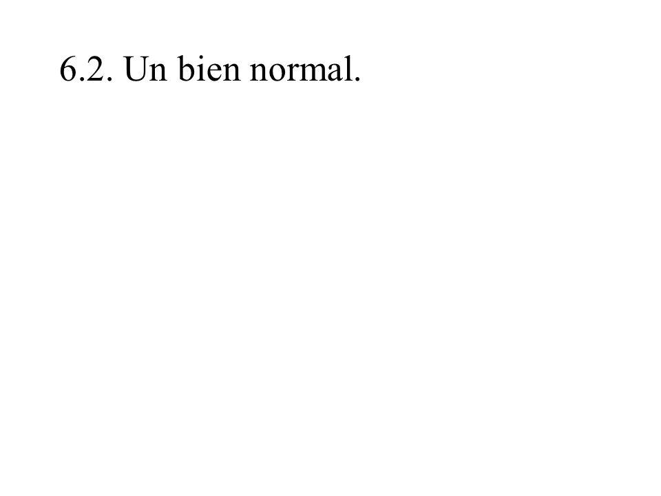 6.2. Un bien normal.