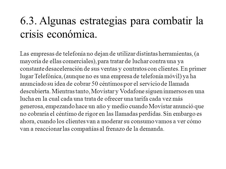 6.3. Algunas estrategias para combatir la crisis económica.