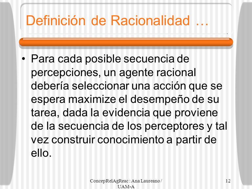 Definición de Racionalidad …