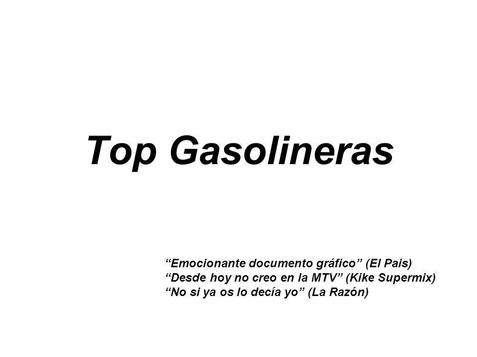 Top Gasolineras Emocionante documento gráfico (El Pais)