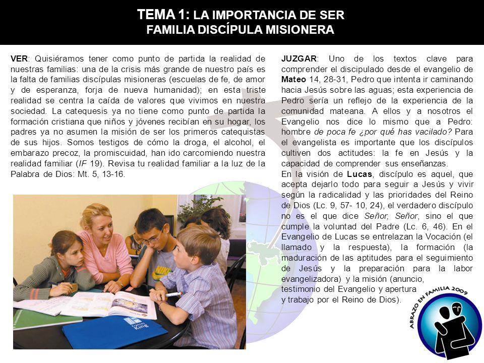 TEMA 1: LA IMPORTANCIA DE SER