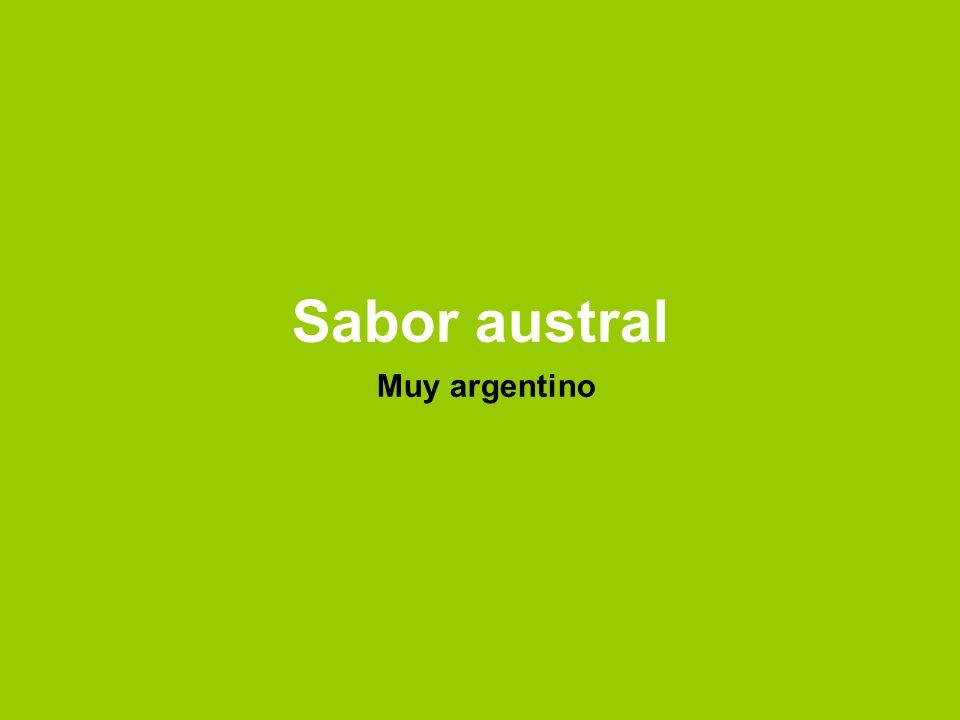 Sabor austral Muy argentino