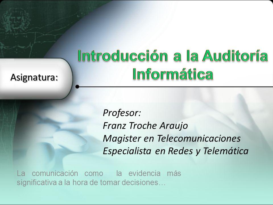 Introducción a la Auditoría Informática