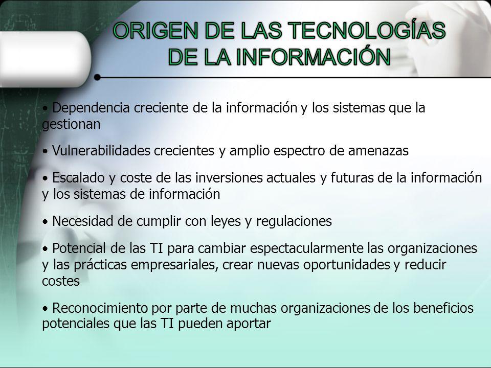 ORIGEN DE LAS TECNOLOGÍAS DE LA INFORMACIÓN