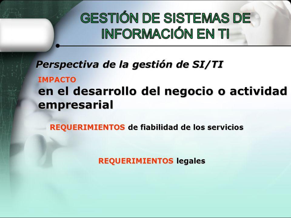 REQUERIMIENTOS de fiabilidad de los servicios REQUERIMIENTOS legales