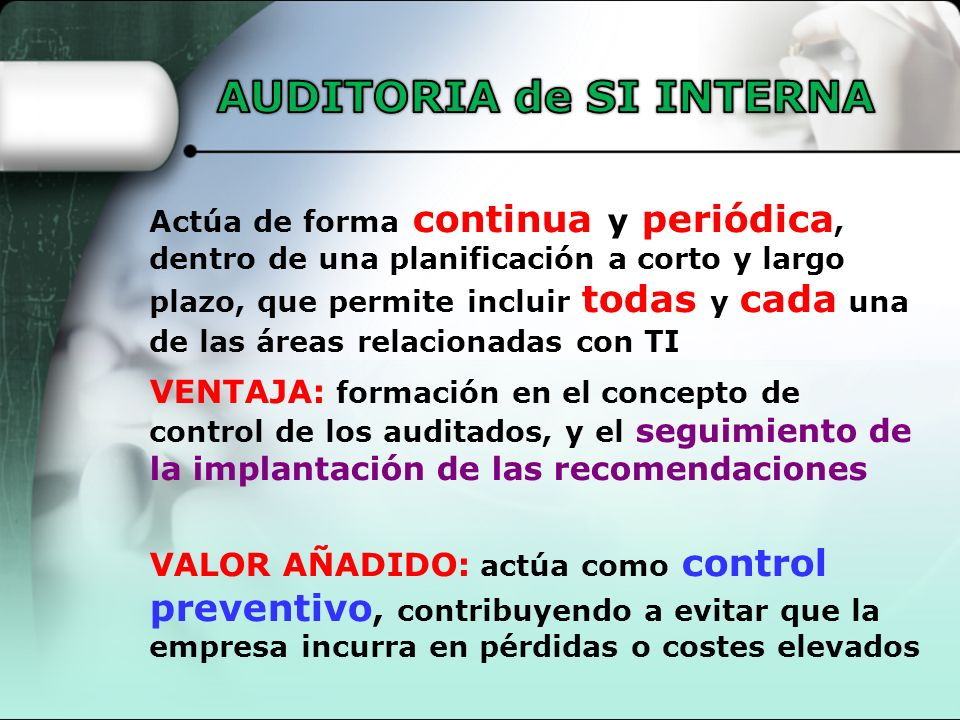 AUDITORIA de SI INTERNA