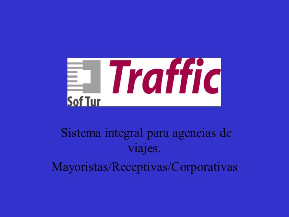 Sistema Traffic Sistema integral para agencias de viajes.