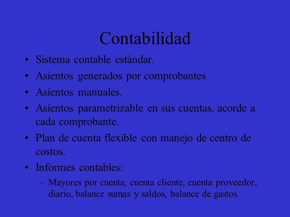 Contabilidad Sistema contable estándar.