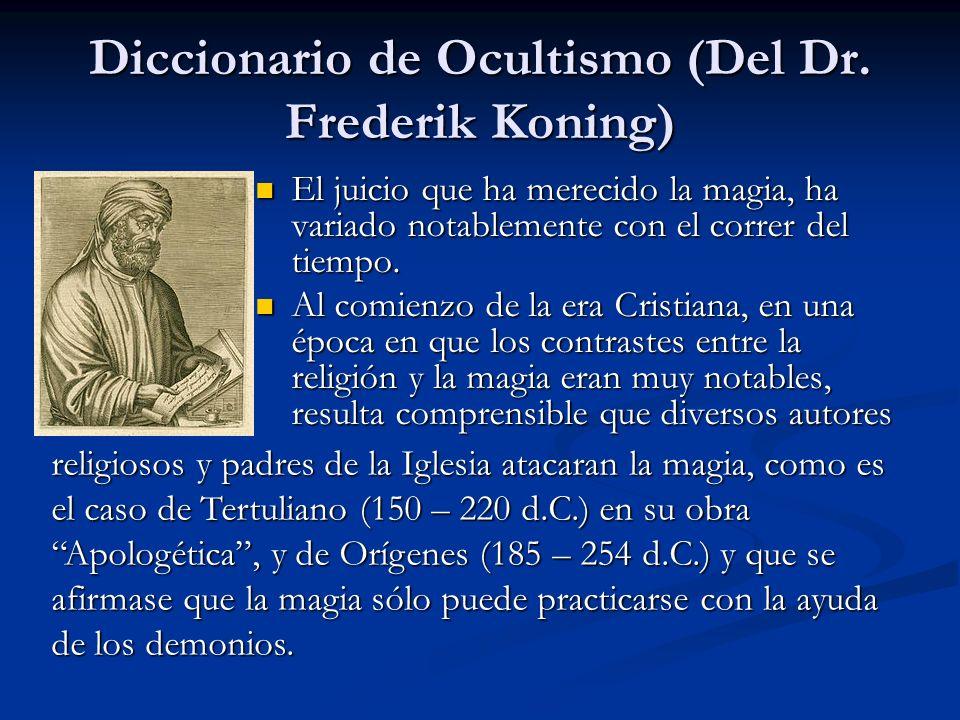 Diccionario de Ocultismo (Del Dr. Frederik Koning)