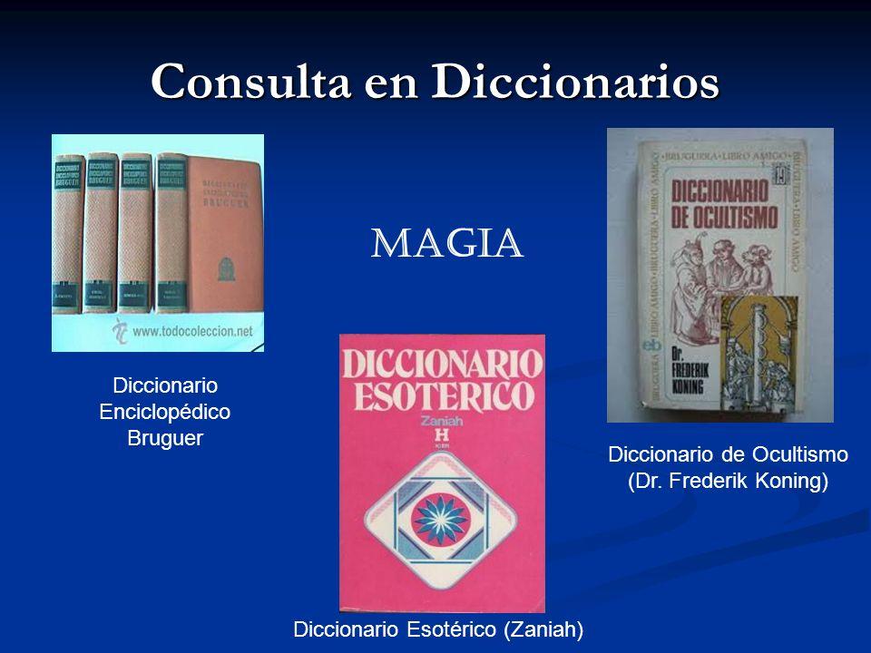 Consulta en Diccionarios