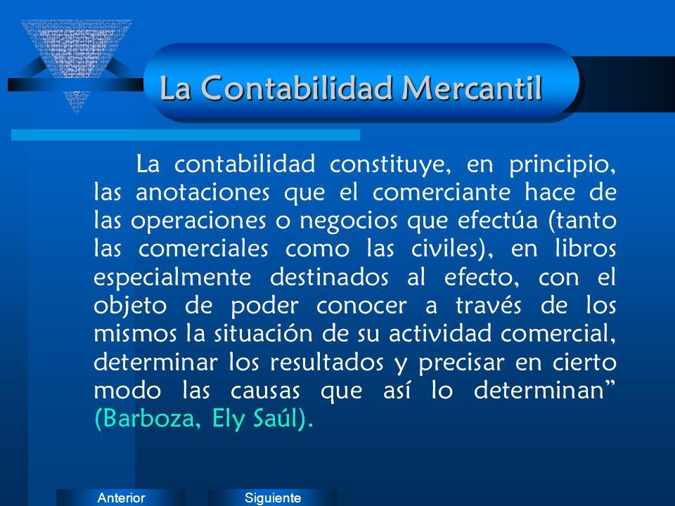 La Contabilidad Mercantil