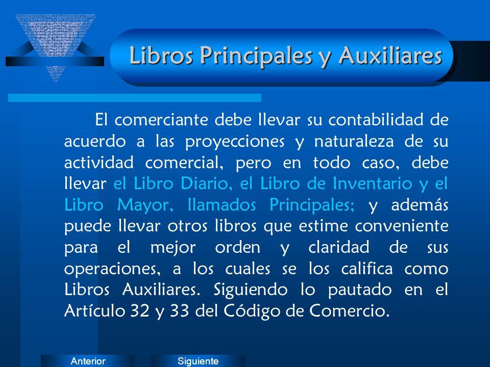 Libros Principales y Auxiliares