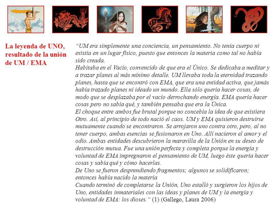 La leyenda de UNO, resultado de la unión de UM / EMA