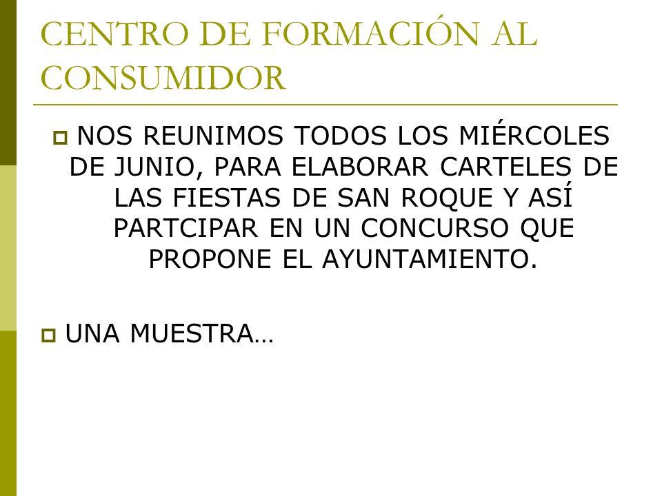 CENTRO DE FORMACIÓN AL CONSUMIDOR