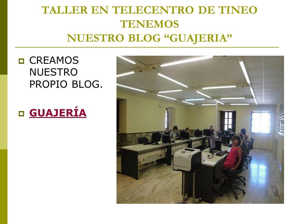 TALLER EN TELECENTRO DE TINEO TENEMOS NUESTRO BLOG GUAJERIA