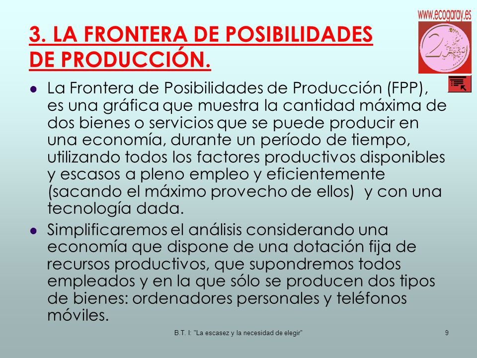 3. LA FRONTERA DE POSIBILIDADES DE PRODUCCIÓN.