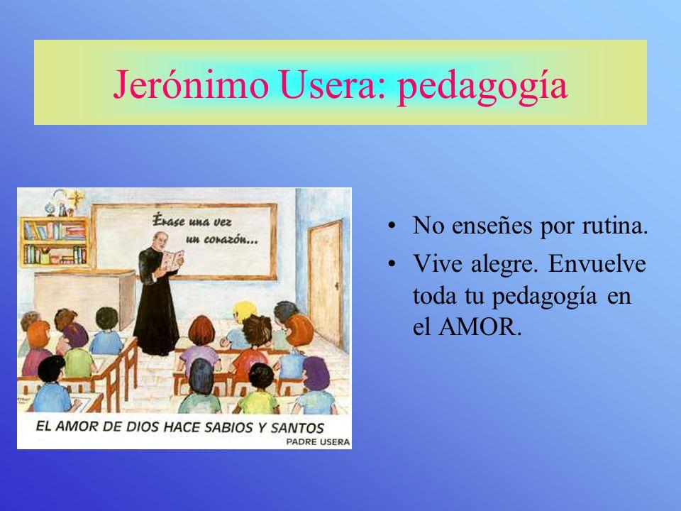 Jerónimo Usera: pedagogía