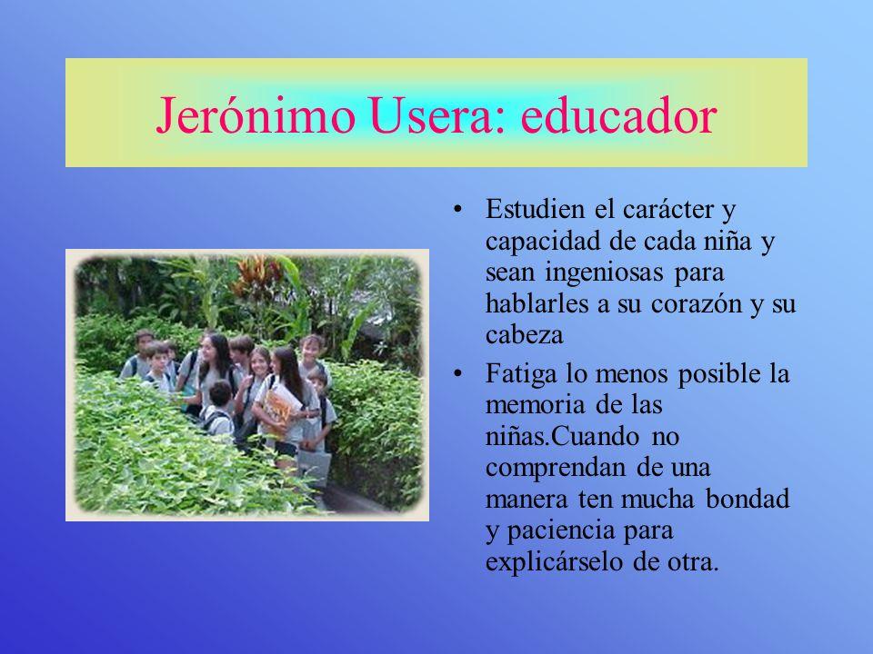 Jerónimo Usera: educador