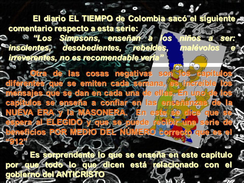 El diario EL TIEMPO de Colombia sacó el siguiente comentario respecto a esta serie: