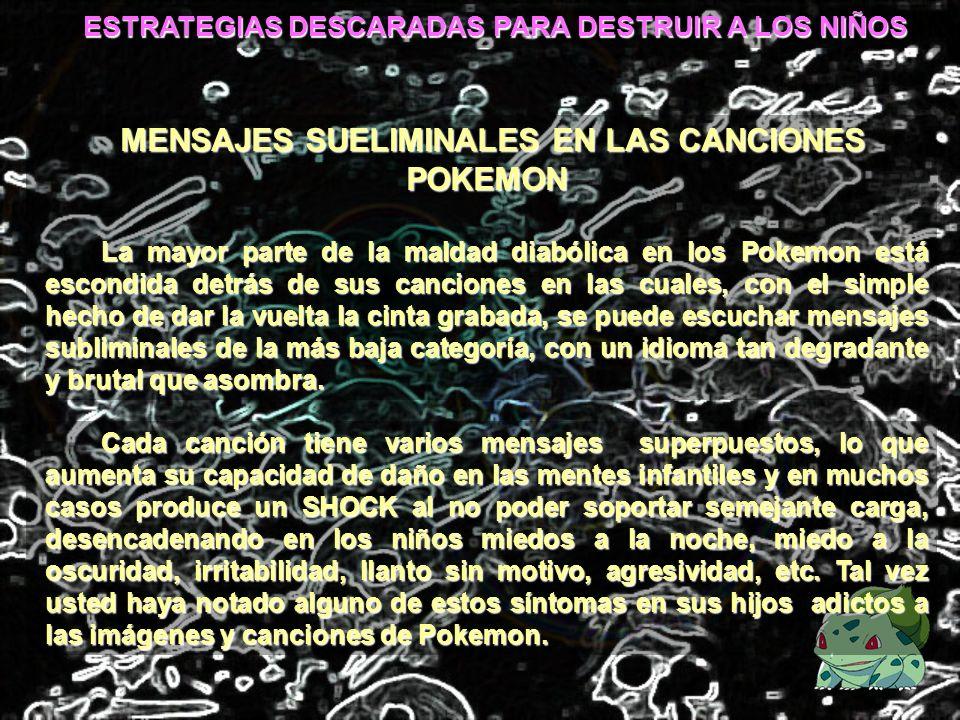 MENSAJES SUELIMINALES EN LAS CANCIONES POKEMON