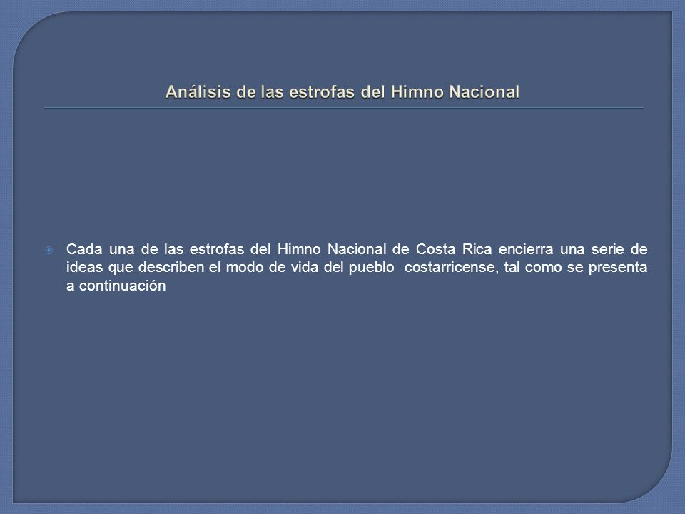 Análisis de las estrofas del Himno Nacional