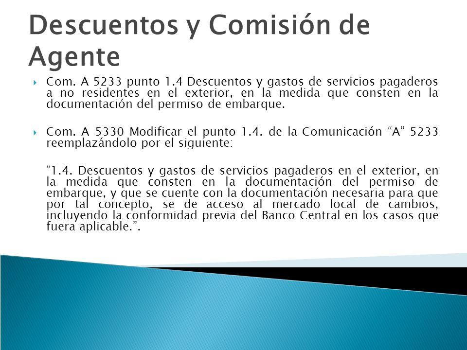 Descuentos y Comisión de Agente