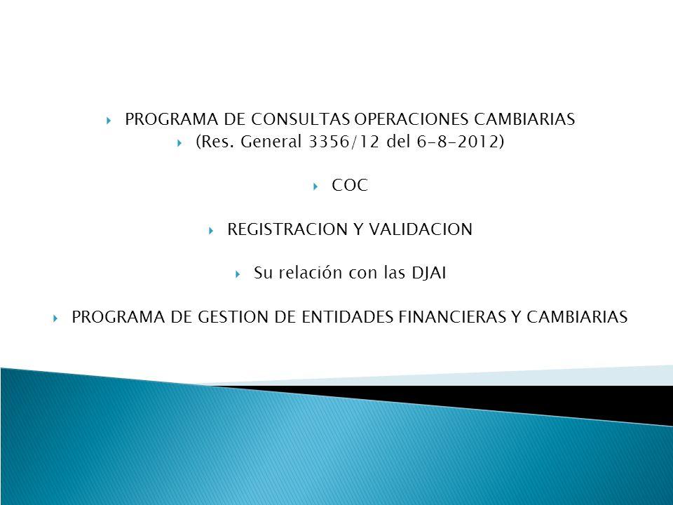 PROGRAMA DE CONSULTAS OPERACIONES CAMBIARIAS