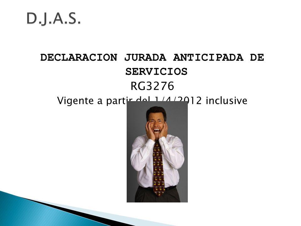 DECLARACION JURADA ANTICIPADA DE SERVICIOS