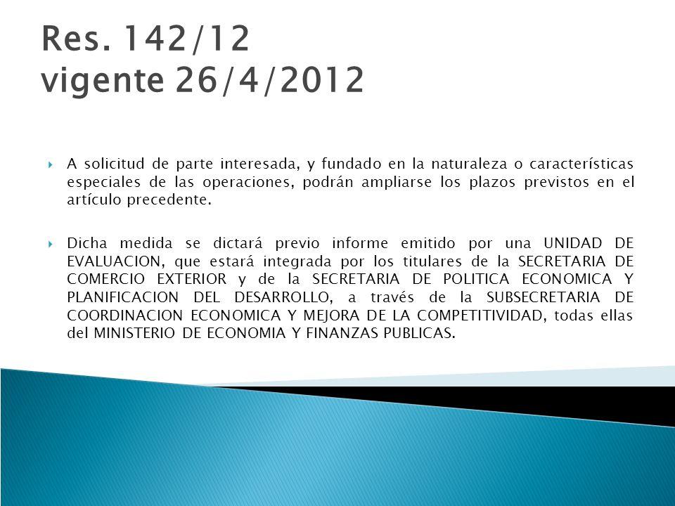 Res. 142/12 vigente 26/4/2012