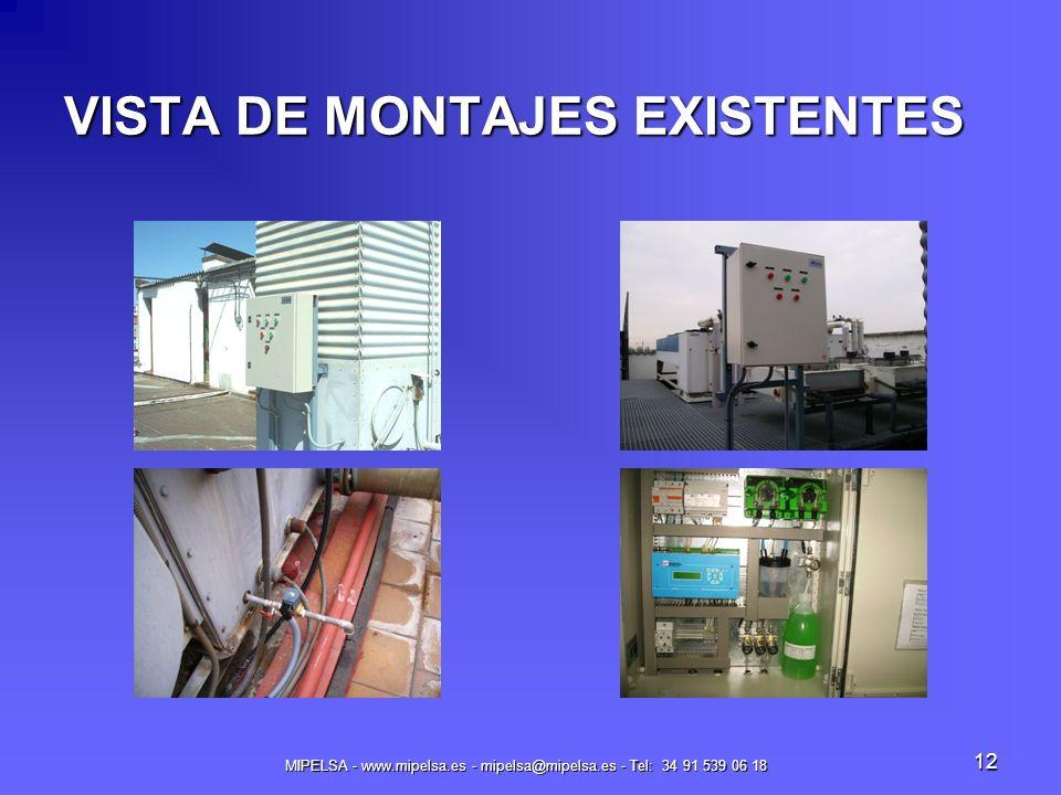 VISTA DE MONTAJES EXISTENTES