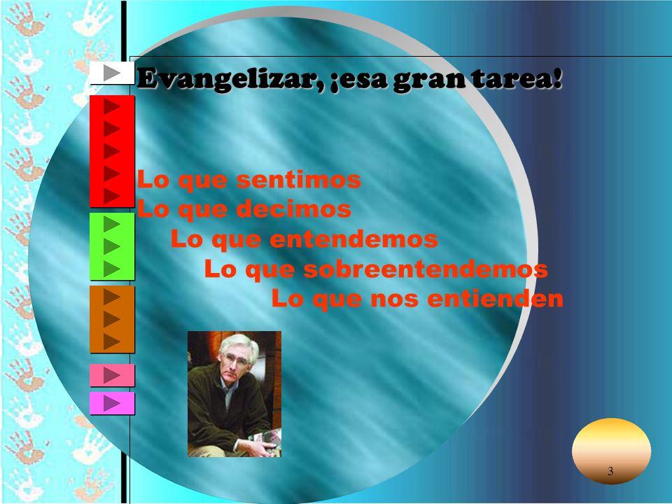 Evangelizar, ¡esa gran tarea!