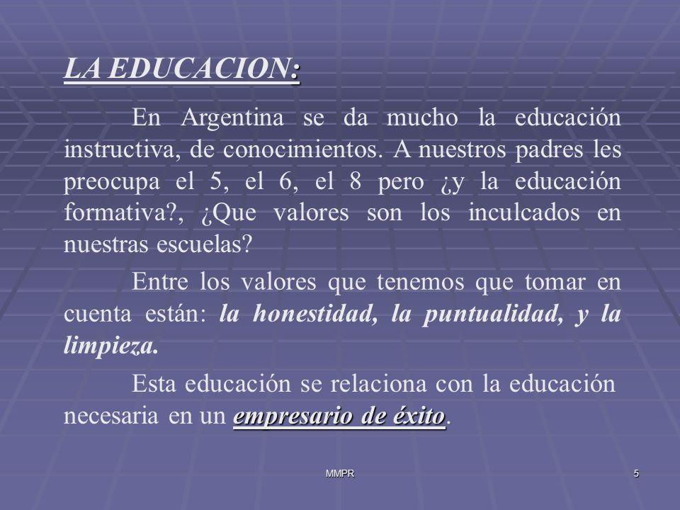 LA EDUCACION: