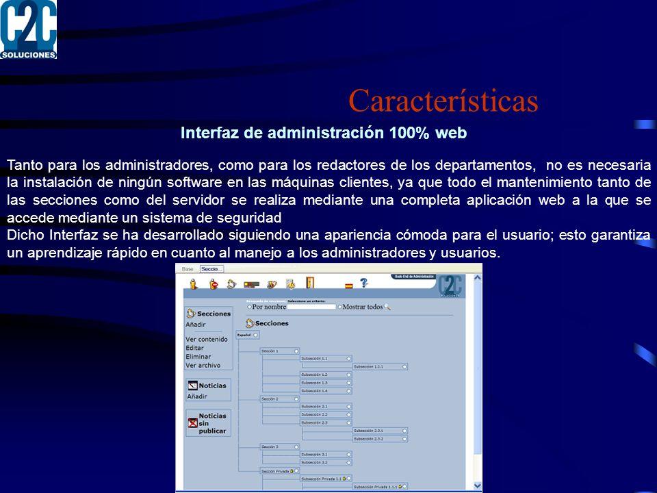 Interfaz de administración 100% web