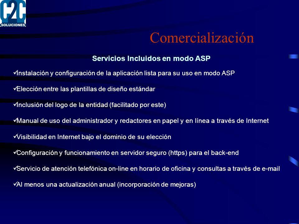 Servicios Incluidos en modo ASP